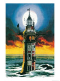 The First Eddystone Lighthouse Giclee Print by Ron Embleton
