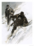 Dr. Isaac Stringer and C. F. Johnson Trekked Across the Yukon Giclee Print by Graham Coton