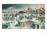 Frost-Fair on the River Thames Giclee Print by Dan Escott