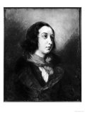 Portrait of George Sand, 1838 Giclee Print by Eugene Delacroix