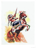 The Charge of the Sioux Giclee Print by Don Lawrence