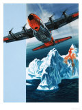 Lockheed Hercules Patrolling Icebergs For the Coast Guard Giclee Print by Wilf Hardy