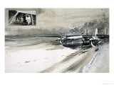 The Crash of a Bea Elizabethan at Munich Airport Giclee Print by Graham Coton