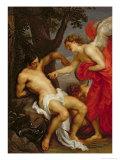 Saint Sebastian and the Angel Giclée-Druck von Sir Anthony Van Dyck
