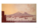 View of the Bay of Naples, 1798 Giclee Print by Giacomo Guardi