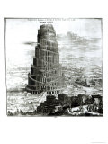 The Tower of Babel, 1679 Reproduction procédé giclée par Athanasius Kircher