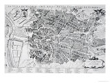 Map of Madrid Giclee Print