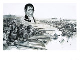 Portrait of General Andrew Jackson Above Image of the British Defeat at New Orleans in 1815 Giclee Print by Graham Coton