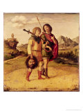 David and Jonathan, c.1505-10 Giclee Print by Giovanni Battista Cima Da Conegliano