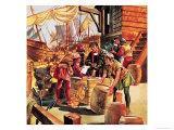 Amerigo Vespucci, the Man Who Gave America Its Name Giclee Print by Ron Embleton
