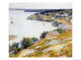 East Boothbay Harbor, 1904 Giclee Print by Willard Leroy Metcalf