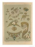 Jewels, Plate 39, Fantaisies Decoratives, Librairie de l'Art, Paris, 1887 Giclee Print by Jules Auguste Habert-dys
