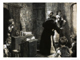 Norman Classroom at St Martin's School Giclee Print by Frank Marsden Lea