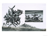 Sir Henry de Bohun, the English Knight, Tries to Kill Robert the Bruce Giclee Print by Graham Coton