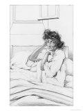 Depressive Woman Giclee Print by Ambroise Tardieu