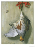 Trompe L&#39;Oeil with Partridge, 1666 Giclee Print by Hendrik De Fromantiou