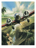 Famous Aircraft and Their Pilots: Lockheed Ten Electra - Amelia Earhart Giclee Print by Wilf Hardy