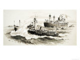 Unidentified Ship and Pilits Boat Giclee Print by John S. Smith