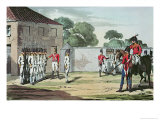 Soldiers Drilling, 1807 Lmina gicle por John Augustus Atkinson