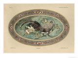 Cock, Plate 37, Fantaisies Decoratives, Librairie de l'Art, Paris, 1887 Giclee Print by Jules Auguste Habert-dys
