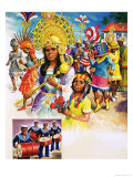 Colourful Carnival in Trinidad Giclee Print