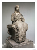 Demeter, Statue from Knidos, Asia Minor, c.350 BC Giclee Print by  Greek