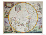 Map of the North Pole Giclee Print by John Seller