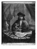 Portrait of a Young Artist, Engraved by Johannes Meyssens Giclee Print by Michiel Van Musscher