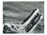 The Winds of Commonwealth Bay Blow over a Snow Tractor Giclee Print by Graham Coton