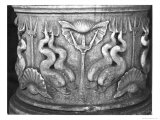 Base of a Holy Water Fountain, Carved with Dolphins, San Marco Basilica Giclee Print