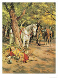 Mystery in the Forest Giclee Print by Fortunino Matania