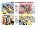 Four Homes from Four Centuries Giclee Print by Dan Escott