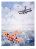 The Last Flight of Captain Baron Von Richthofen, c.1920 Giclee Print by Geoffrey Fl.192) Watson