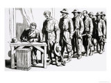 Miners Flocked to Work For Sam Curtis Who Discovered Many Rich Seams For Mining Giclee Print by Gerry Embleton