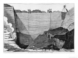The Coal Mine at Commentry, Illustration from 'Le Magasin Pittoresque', 1835 Giclee Print by Louis Henri Breviere