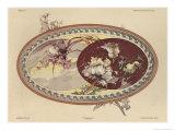 Birds and Flowers, Plate 19, Fantaisies Decoratives, Pub. Rouam, Paris, 1887 Giclee Print by Jules Auguste Habert-dys