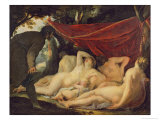 Venus and the Graces Surprised by a Mortal Giclee Print by Jacques Blanchard