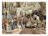 London Street, 1869 Giclee Print by Jean-Baptiste Edouard Detaille