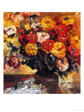 Zinnias in a Vase, 1924 Giclee Print by Lovis Corinth