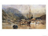 Shipping on the Hudson River Gicl&#233;e-Druck von Samuel Colman