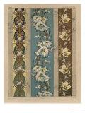 Flowers, Plate 18, Fantaisies Decoratives, Librairie de l'Art, Paris, 1887 Giclee Print by Jules Auguste Habert-dys