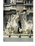 The Four Rivers Fountain, 1648-51 Giclée-tryk af Bernini, Giovanni Lorenzo