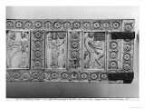 Plaques from a Wooden Chest Depicting Jesus Christ Between Two Scenes with Adam, 10Th-11th Century Giclee Print