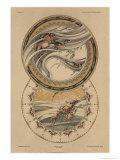 Fishes and Lobster, Fantaisies Decoratives, Librairie de l'Art, Paris, 1887 Giclee Print by Jules Auguste Habert-dys