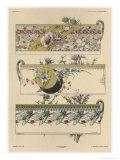 Flowers and Flies, Plate 11, Librairie de l'Art, Paris, c.1887 Giclee Print by Jules Auguste Habert-dys