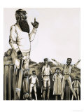 The Great W G Grace at the Wicket Giclee Print by Richard Hook