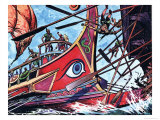 Trireme Giclee Print by Peter Jackson