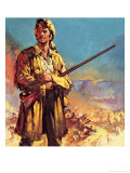 Davy Crockett: Hero of the Alamo Giclee Print by James Edwin Mcconnell