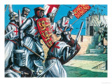 King Richard I Storming the Walls of Acre Giclee Print by Dan Escott