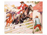 Dick Turpin's Ride to York Giclee Print by Ronald Simmons
